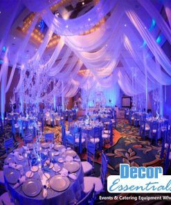 3 Meter Curtain Draping for Halls , Stages and Events used by events co-ordinators and Stage decor Companies in South Africa