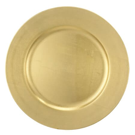 gold plastic underplate