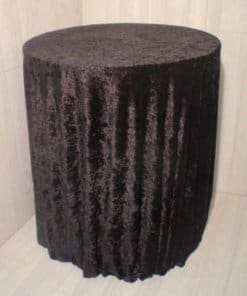 velour round table cloth floor length