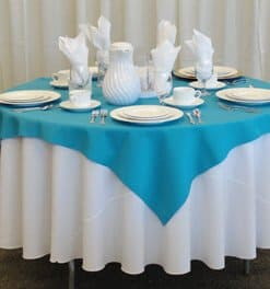blue overlay used for round tables square