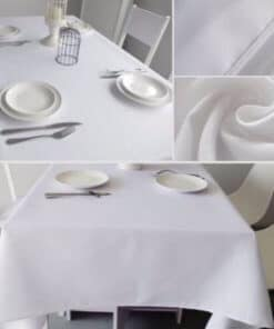 plain table cloths used at a function