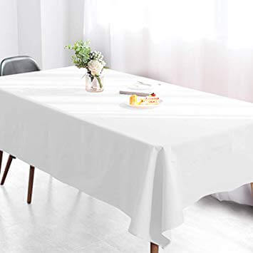 white mini matt table cloth for trestl