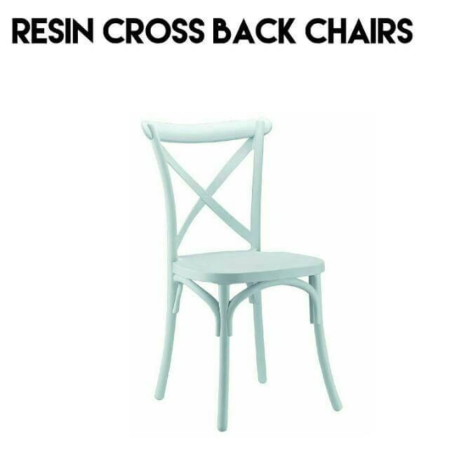 Resin cross back chairs