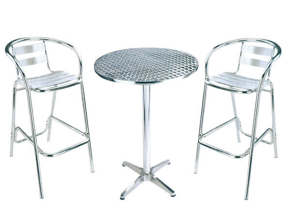 Aluminium cocktail chair chairs for