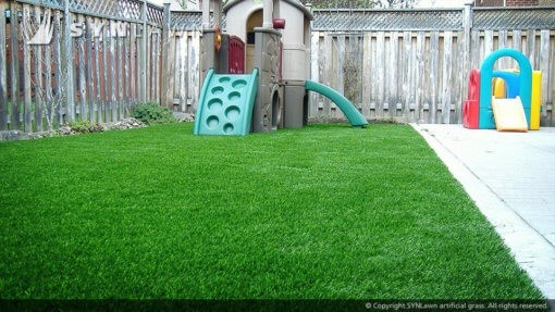 fake grass with kids junglejim