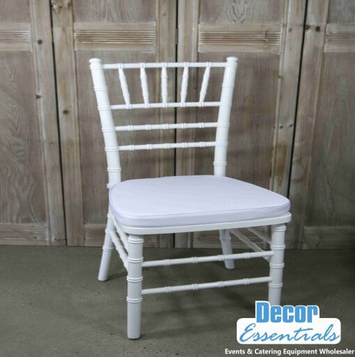Tiffany Chairs for Kiddies parties .The Popular white kiddies chairs are used for kiddies party themed events and more.