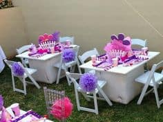 kiddies party planing wimbledon chairs on offer