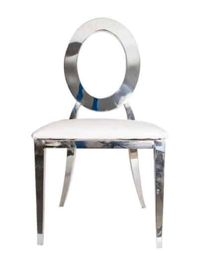 stainless steel round back chair