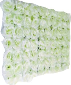 white artifical flower patches