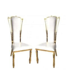 gold wing chairs sold in pairs