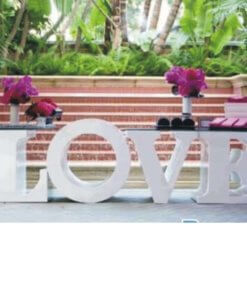 cut out love letters for wedding table