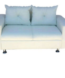 2 seater couch with white cushions