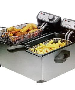 double electric deep fryer 6lt