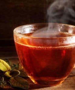 hot tea made with stainless steel urn