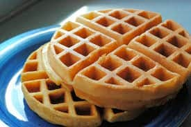 2 waffles on a plate