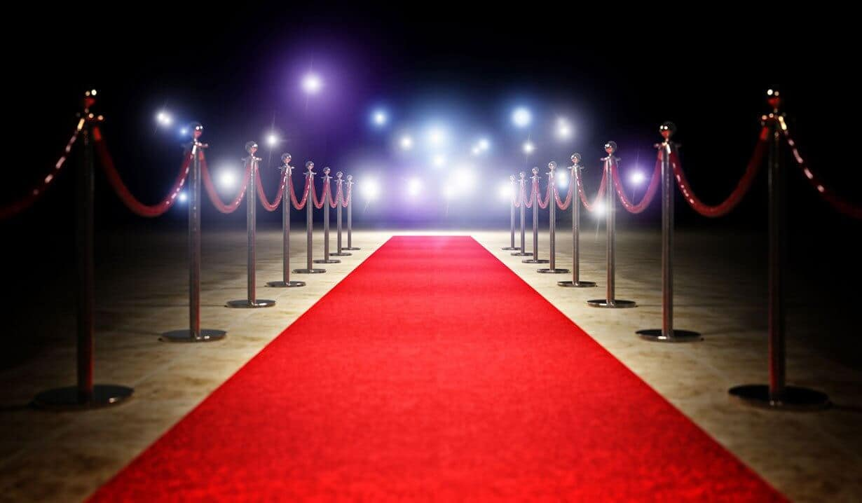 Red Carpet For Vip Entrance 10mx1m Suitable For Indoor And