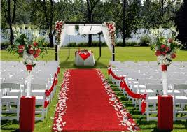 outdoor venue using the awesome red carpet in South Africa