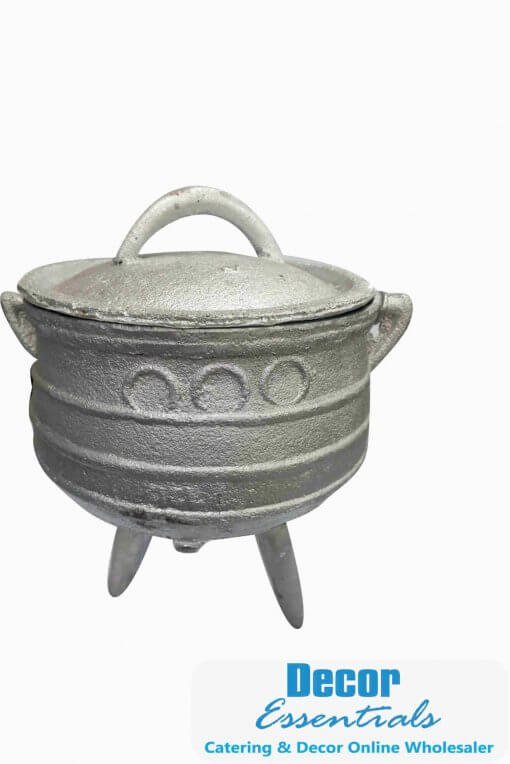 South African a three-legged iron pot used for cooking over a wood fire