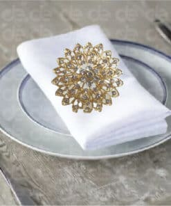 Floral Studded Napkin Ring