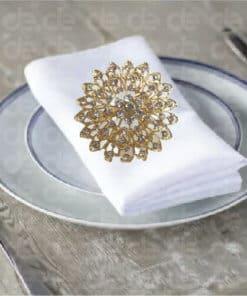 Floral Studded Napkin Ring