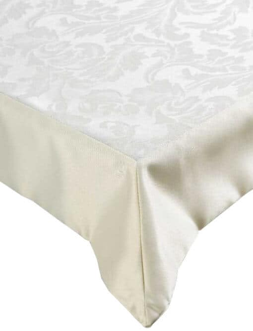 Cream Damask Tablecloth