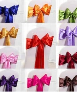 satin chair ties