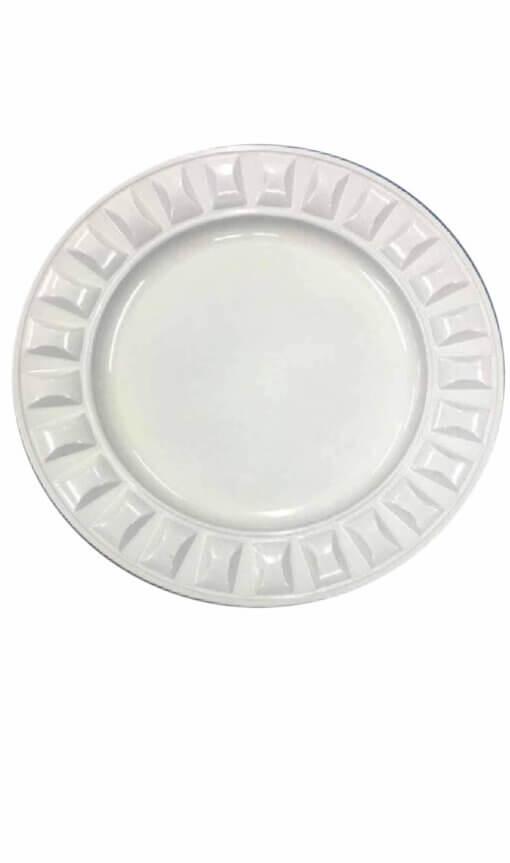 Plastic Large Stud Under plate – White