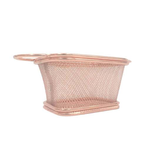 Chip Basket Rose Gold Rectangular Small