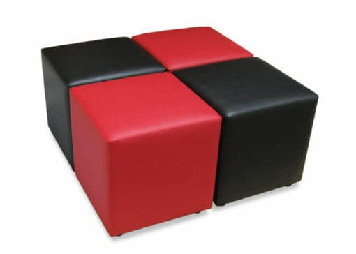 red and black ottomans for weddings