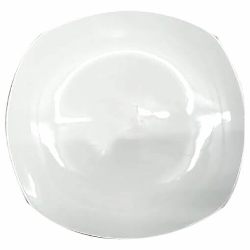 rounded square dinner plate white