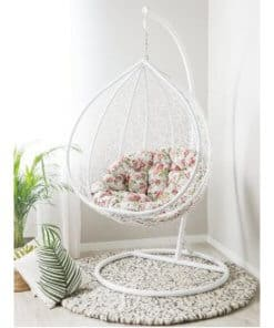 Swing Chair Basket White