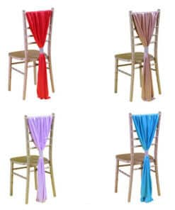 Satin Chair Runners