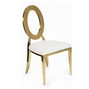 Gold Eye Chair White Seat