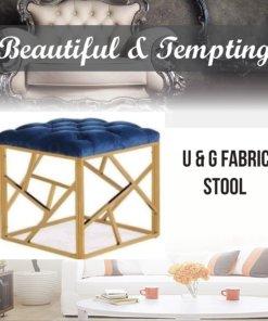 u & g fabric stool