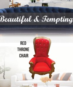 red throne chair