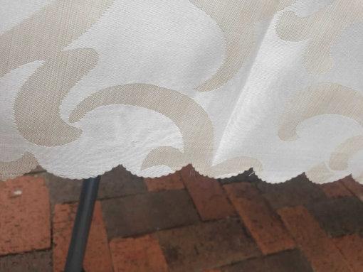 Burnout Edges on Damask table cloth