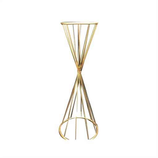 Gold Steel Funnel Table Stand. suitable for events and home use