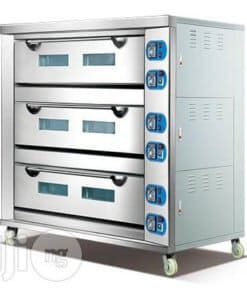 3 deck 9 tray oven
