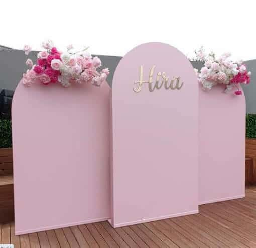 3 pieces wooden arch for stage decor