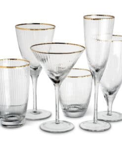 Gold Rimmed Wine Glasses