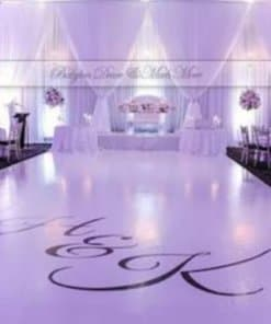 pvc wedding gloss flooring