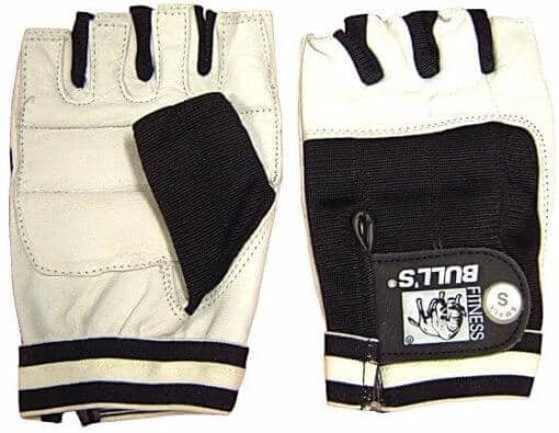 Cycle Gloves White Leather