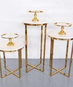 3pc metal cake stand