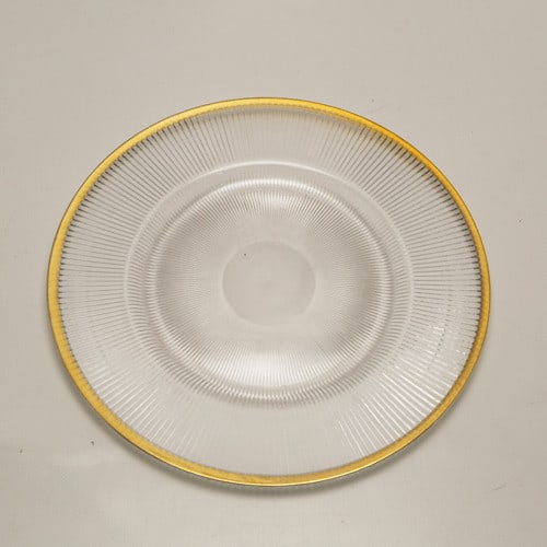 gold rimmed underplate