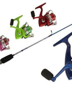 COMBO FISHING ROD & REEL (HOT) 4 ASSORTED COLORS SIZE :- 3""