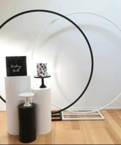 round draping stand combo