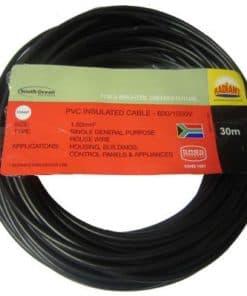 House Wire 2.5mm x 30m Black