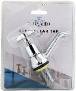 "Chrome Star Pillar Tap 1/2"" (15mm)"