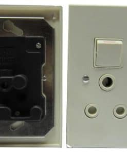 Wall Socket Double With Cover