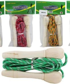 Skipping Rope Wooden Handle Assorted Colors